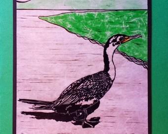 5 Cormorant on Green Cards