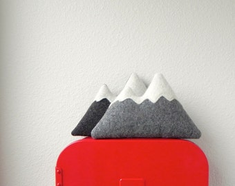 the Foothills - small woolen mountain tooth fairy pillow - MADE TO ORDER