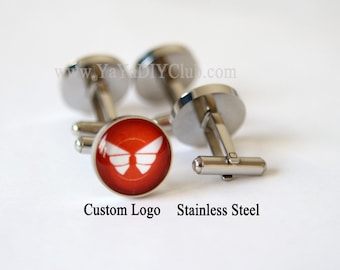 Corporate Logo Gift, Corporate Favors, Corporate Gift, Custom Logo Cuff links,Custom Cuff Links, Corporate Logo Gift Custom Photo Cuff links