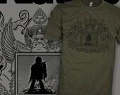 NEUROSIS Shirt - Doom Rock Demon - The Wicker Man - Burning Man T-Shirt - FREE SHIPPING