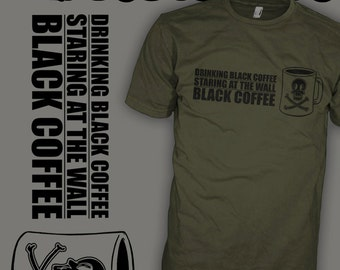 Black Flag Shirt - Henry Rollins - Hardcore Punk Rock - Coffee Caffeine Lover T-Shirt