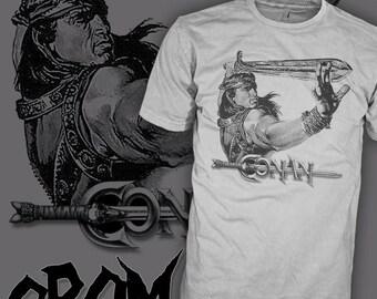 Conan the Barbarian T Shirt - Arnold Schwarzenegger T Shirts - Conan T Shirt