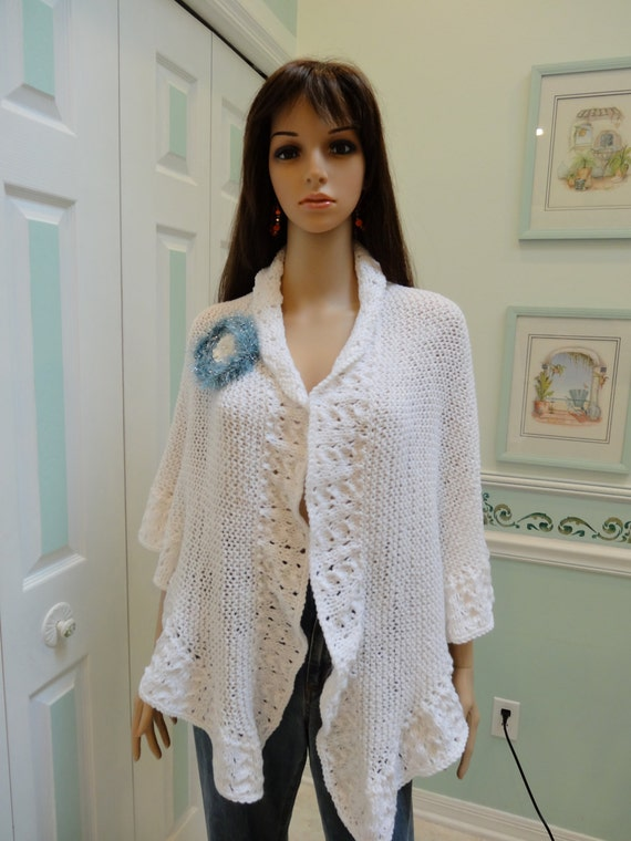 PRINCESS KATE Middleton style shawl white with removable