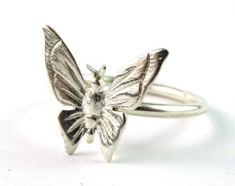 Butterfly Sterling Silver Stacking Ring