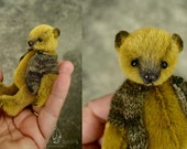 "Bearling, Miniature 3 3/4"" Artist Teddy Bear by Aerlinn Bears"