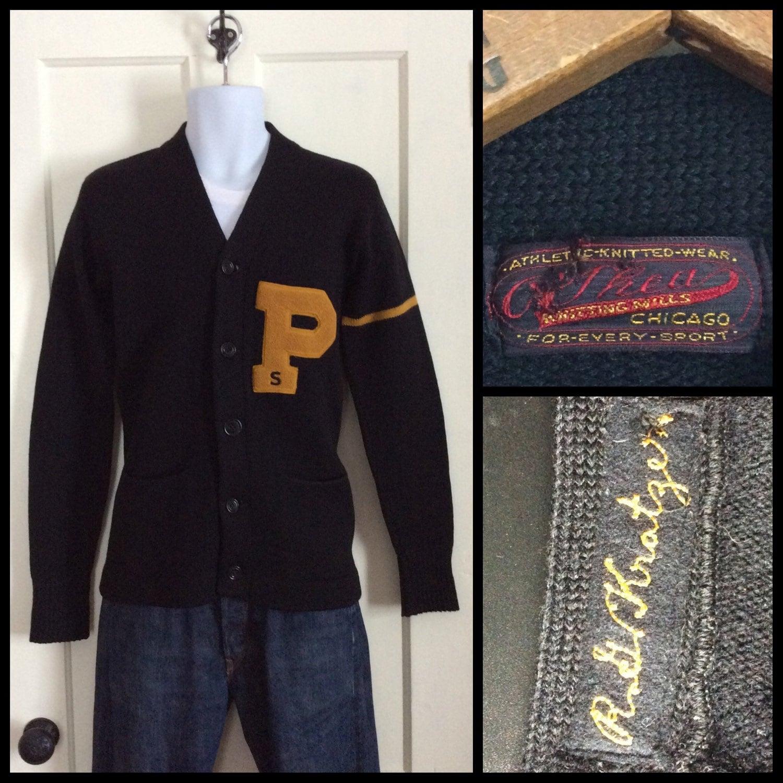 Chicago Knitting Mills : Vintage s princeton university college letter