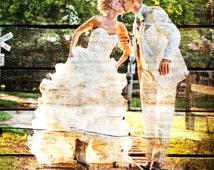 5th Anniversary, 5 year Anniversary, Wood Print, Photo to Wood, REAL WOOD Custom Wood 5th Anniversary Gift Wedding Anniversary Gift 16x20