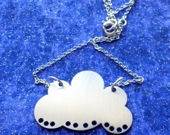 Cloud Charm Necklace or Pendant