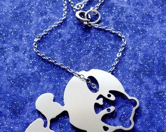 Hang in There Panda Necklace or Pendant