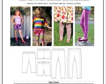 Skinny Legs Leggings - 12m-14yrs -  PDF Sewing Pattern - By LittleKiwisCloset