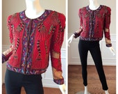 Reserved for Lisa Vintage 1980s Sequin Lawrence Kazar Silk Beaded Jacket
