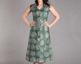 50s Batik Dress - Vintage 1950s Dress - Martinique Dress