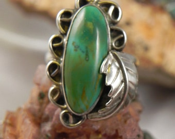 SALE Turquoise Sterling Silver Ring