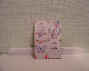 Dollhouse miniature sign 4 in 1 one inch scale 1:12