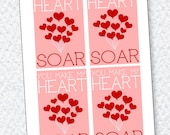 You Make My Heart Soar Valentine PRINTABLE Card by Love The Day