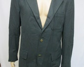 MENS Suit Jacket SMALL Vintage Sports Coat -  Green