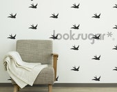 Bird Wall Decal - Swallow Wall Pattern Stickers - AP0003