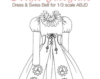 DCP04 - SD size Gothic Fairytale dress pattern Digital Download