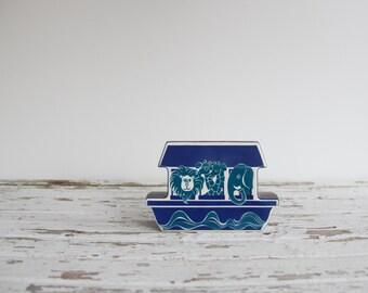 vintage mid century carltonware noah's ark piggy bank / nursery decor