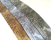 Tangled Forest Print - Men's Tie - SILK tie - Silk Necktie - Deer Necktie - Surreal Art - Surrealism