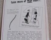 "Original Retro Vintage School Safety Motivational Poster -- Circa 1955   17"" x 22"""