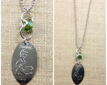 PETER PAN -  Long 30 Inch Necklace - Pressed Quarter - Limited Edition