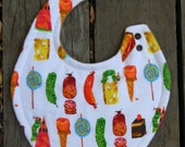 The very Hungry Caterpillar fleece/bamboo bib