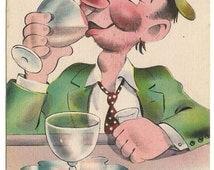 1938 Issue Washington Stamp - Uncancelled Stamp - Humorous Postcard - Collectible Postcard - Unused Postcard