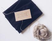 Tie Up Retro Headscarf/Headband - Jet Black