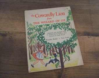 The Cowardly Lion from the Wizard of Oz Wonder Books