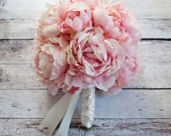 Pink Peony Bouquet - Blush Pink Peony Wedding Bouquet