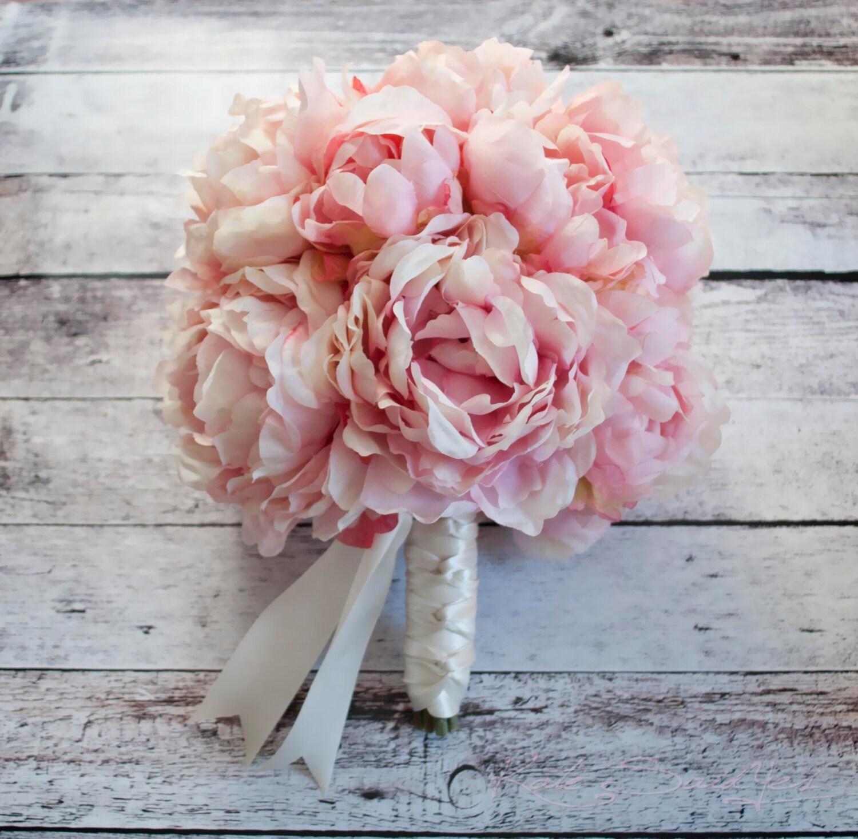 Pink Peony Bouquet Blush Pink Peony Wedding Bouquet