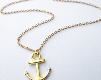 Anchor Necklace // Nautical necklace // Anchor Jewelry // Nautical Jewelry // Boyfriend Girlfriend // Boat Necklace // Seafarers Necklace