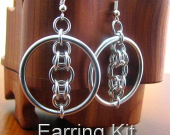Luna's Halo Chainmaille Earring Kit