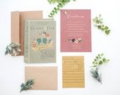 DIY printable- Library book invitation set