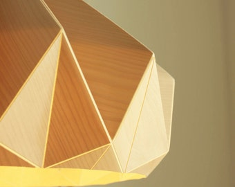 NEW: Chestnut lamp from birch wood veneer