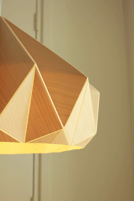 New Chestnut Lamp From Birch Wood Veneer
