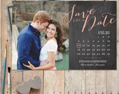 Save The Date Magnet, wedding magnet, save the date postcard, rustic save the date, photo save the date, custom save the date - New Calendar