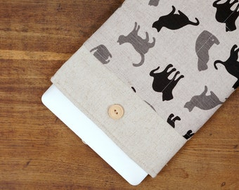 Black & Grey Cats Laptop Case. Case for MacBook 13 Pro Retina. Sleeve for MacBook 13 Air / MacBook 13 Pro Retina.