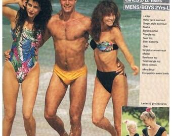 Vintage Multi Sized Swimwear Patterns for Women/Men/Boys/Girls- 1970's