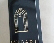 """New Never Used BVLGARI Black Gold Glossy Paper Holder, Gift Card, Gift Note - """"Celebrating 130 Years"""" - Regifting, for her  - Singapore"""