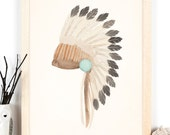 Warbonnet - A3 Watercolour Print