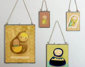 Truth // Illustration Print, Portrait, Animal Art, Kids Art, Nursery Art, Digital Print, Giclee, Drawing, Painting, Modern Art, Friends