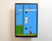 Super Mario Bros Light Switch Plate - Video Game Light Switch Cover - NES Decor