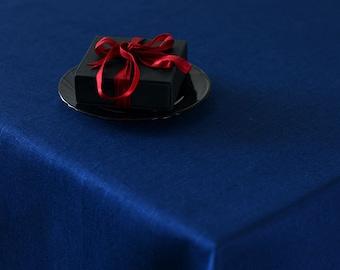 Navy Blue TABLECLOTH Wedding Linen Table Decor Beach Weddings Tablecloths Simple Tablecloth