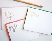 Letter Writing Sheets - Gold Foil