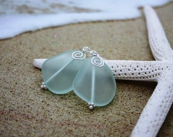Aqua Sea Glass Earrings, Seaglass Earrings, Sea Glass Jewelry, Beach Glass Earrings, Beach Glass Jewelry, Beach Jewelry Seaglass Jewelry 080