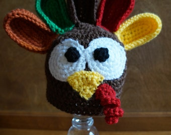 Turkey Hat (size Newborn through Adult)