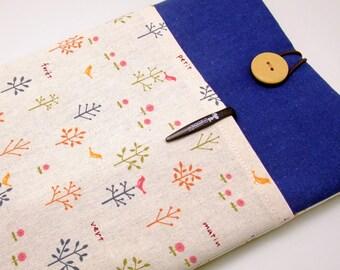 iPad Air case, iPad cover, iPad sleeve/ Samsung Galaxy Tab 3 10.1with 2 pockets, PADDED - Trees and birds