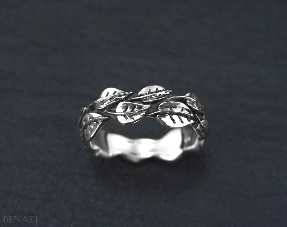 white gold leaf wedding band leaves wedding ring gold leaf